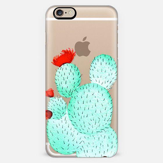 Prickly Pear Cactus Succulent in Watercolor -