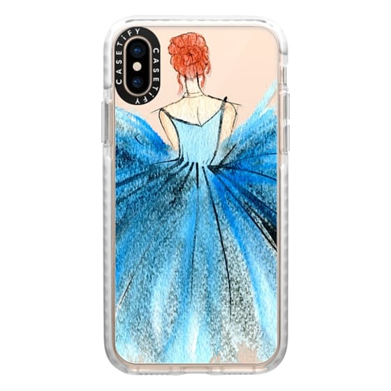 iPhone XS Cases - Blue Tutu Dancer