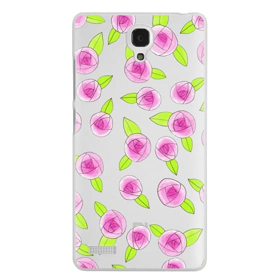 Redmi Note Cases - Pink & Green Girly Roses