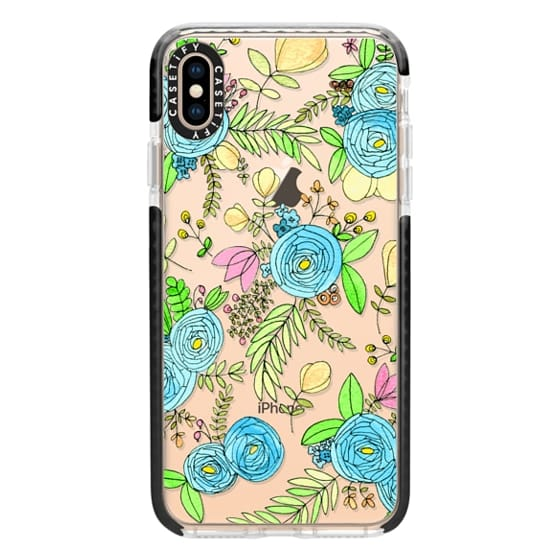 iPhone XS Max Cases - Blue Wildflowers