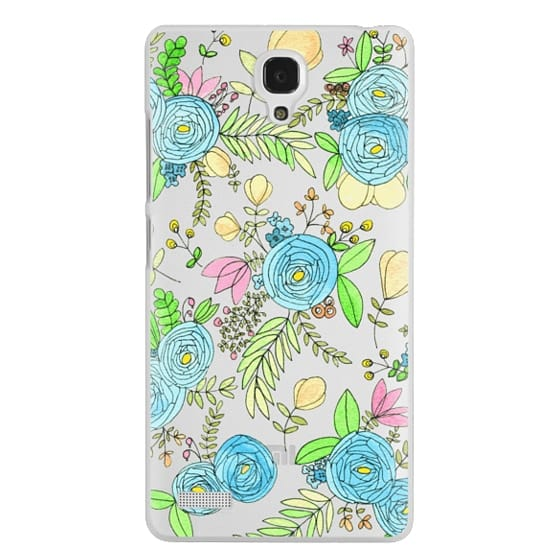Redmi Note Cases - Blue Wildflowers