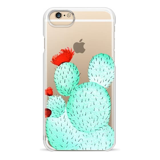 iPhone 6s Cases - Prickly Pear Cactus Succulent in Watercolor