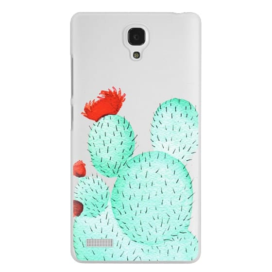 Redmi Note Cases - Prickly Pear Cactus Succulent in Watercolor