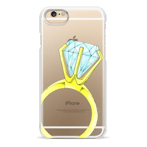 iPhone 6 Cases - Bling Ring (Blue & Gold Diamond Ring / Wedding / Engagement)