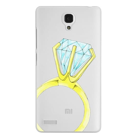 Redmi Note Cases - Bling Ring (Blue & Gold Diamond Ring / Wedding / Engagement)