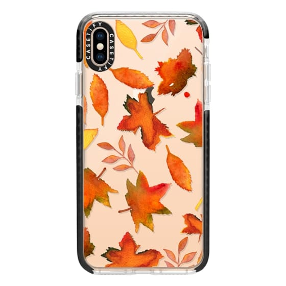 iPhone XS Max Cases - Fall Leaves Watercolor