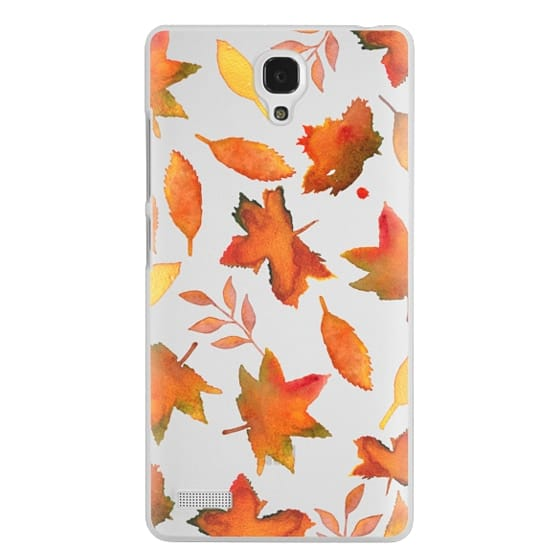 Redmi Note Cases - Fall Leaves Watercolor