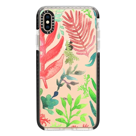 iPhone XS Max Cases - Red Corals & Laurels