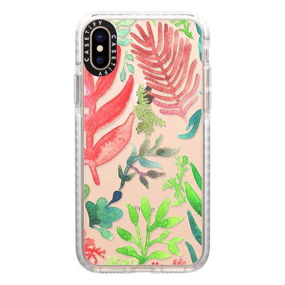 iPhone XS Cases - Red Corals & Laurels