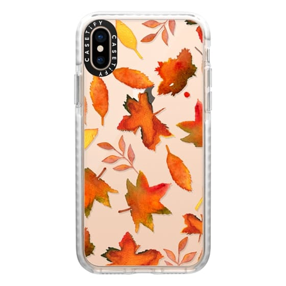 iPhone XS Cases - Fall Leaves Watercolor