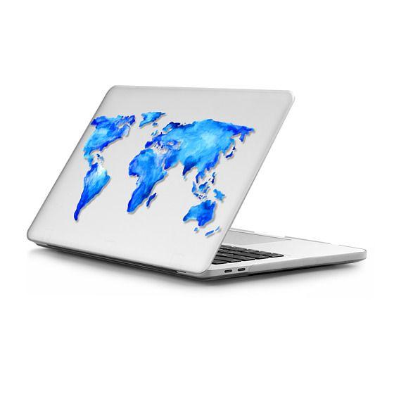 MacBook Pro Touchbar 13 Sleeves - Watercolor worldmap