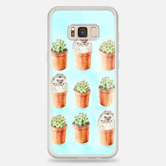 Casetify Samsung Galaxy / LG / HTC / Nexus Phone Case - Hedgehog Cactus Watercolor Turquoise