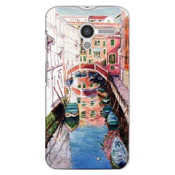 Moto X Cases - Watercolor Painting Venice Italy Canal Canoe Landscape Venetian