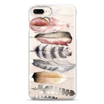 Snap iPhone 8 Plus Case - Watercolor feathers