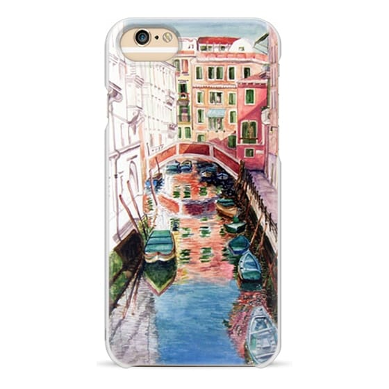 iPhone 6 Cases - Watercolor Painting Venice Italy Canal Canoe Landscape Venetian