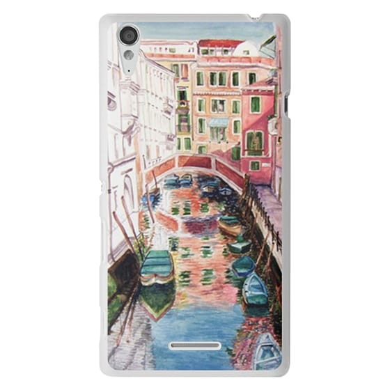 Sony T3 Cases - Watercolor Painting Venice Italy Canal Canoe Landscape Venetian
