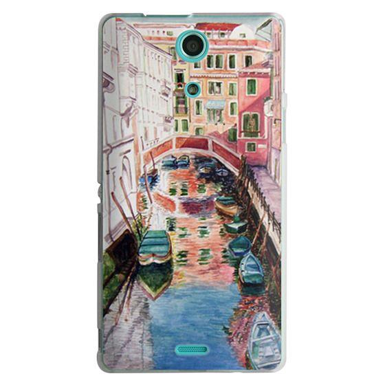 Sony Zr Cases - Watercolor Painting Venice Italy Canal Canoe Landscape Venetian