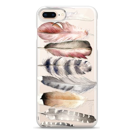 iPhone 8 Plus Cases - Watercolor feathers