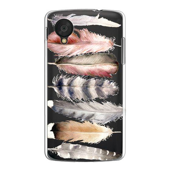 Nexus 5 Cases - Watercolor feathers