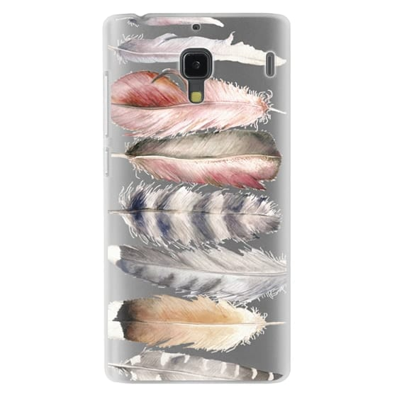 Redmi 1s Cases - Watercolor feathers