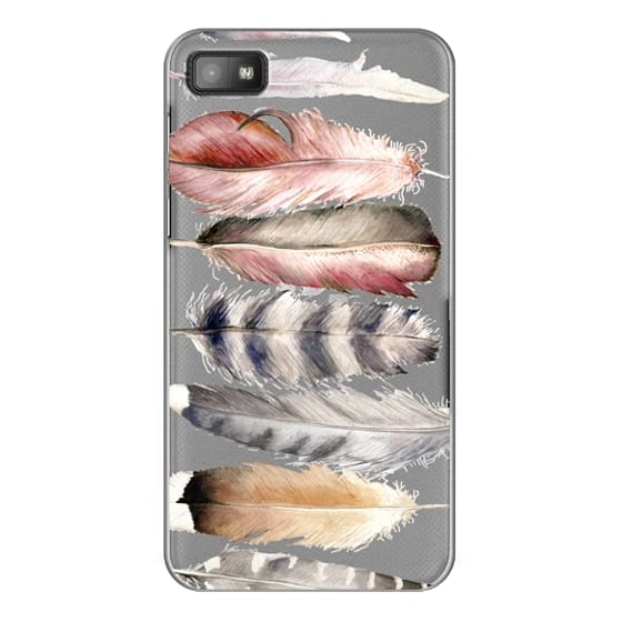 Blackberry Z10 Cases - Watercolor feathers
