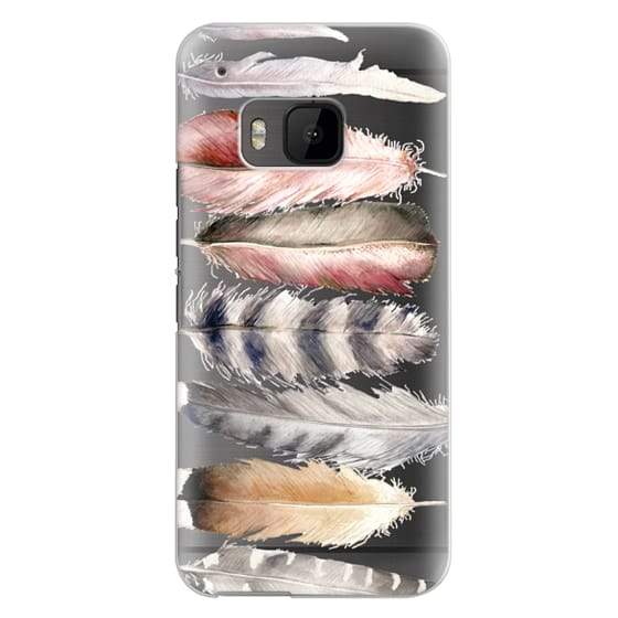 Htc One M9 Cases - Watercolor feathers