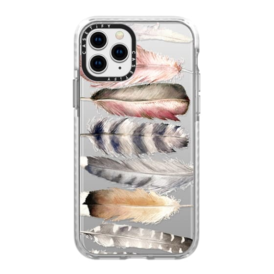 iPhone 11 Pro Cases - Watercolor feathers