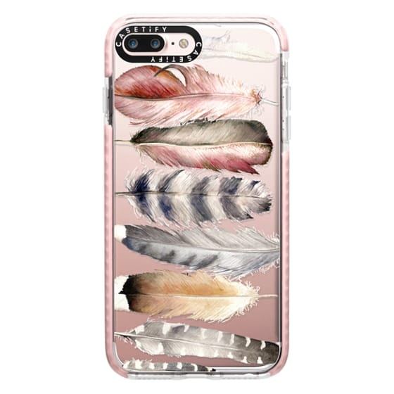 iPhone 7 Plus Cases - Watercolor feathers