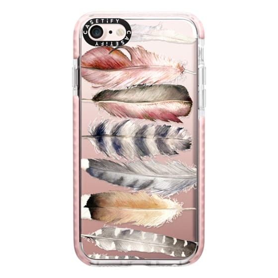 iPhone 7 Cases - Watercolor feathers