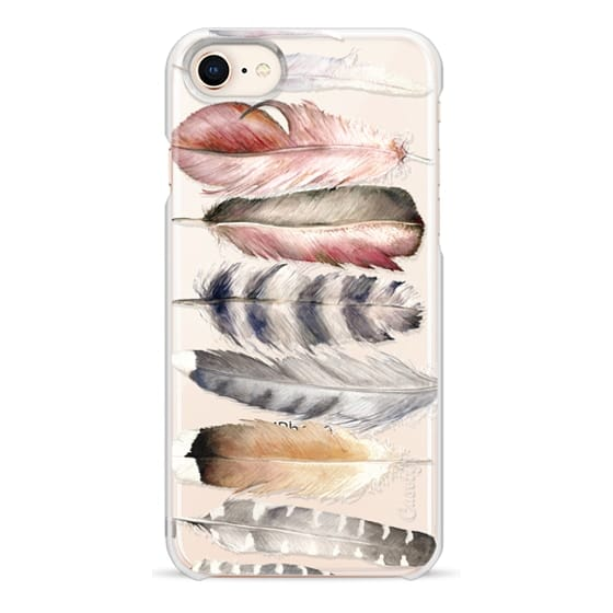 iPhone 8 Cases - Watercolor feathers