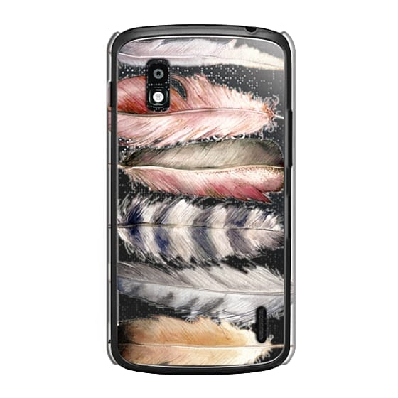Nexus 4 Cases - Watercolor feathers