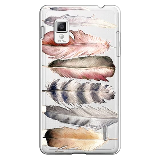 Optimus G Cases - Watercolor feathers
