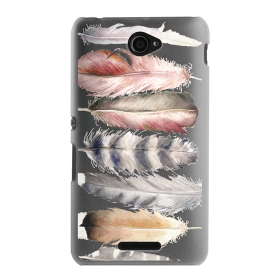 Sony E4 Cases - Watercolor feathers