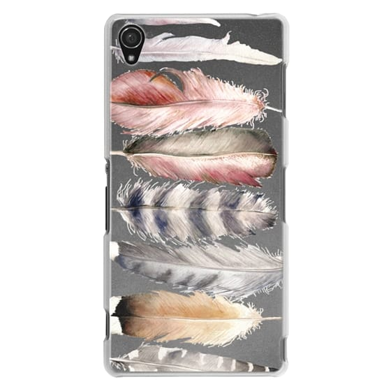 Sony Z3 Cases - Watercolor feathers