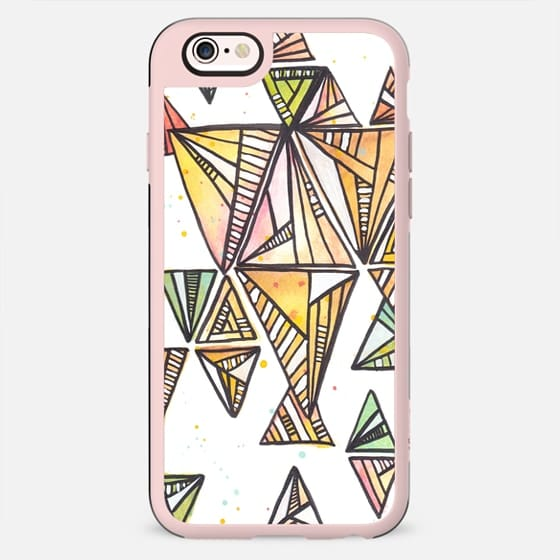 Triangle & abstract lines pattern -