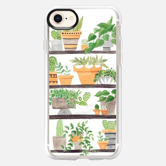 painted succulent & cactus plant shelfie - Snap Case