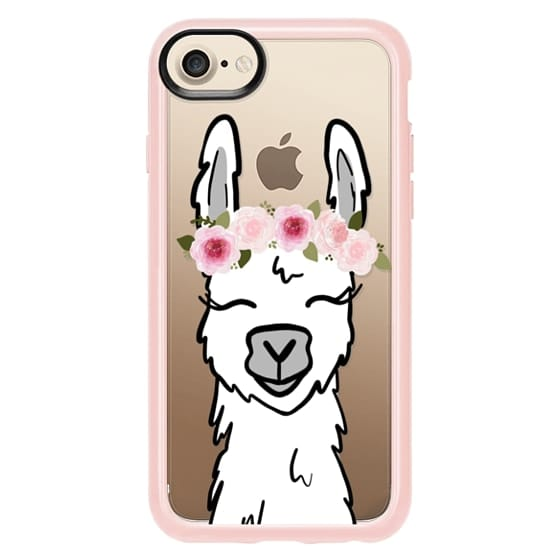 save off b3695 2a9df Classic Grip iPhone 7 Case - Llama with Floral Crown