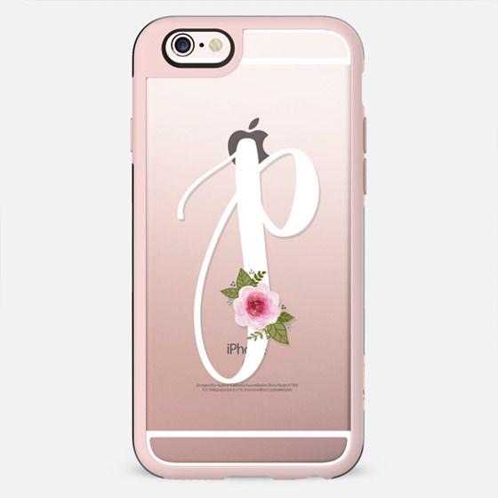 Floral Monogram P - New Standard Case