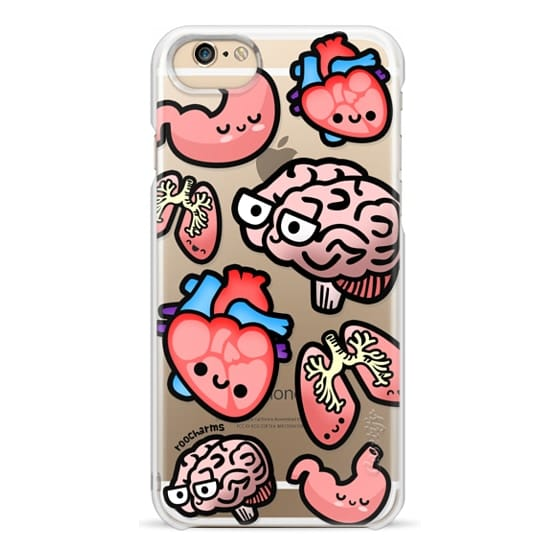 iPhone 6 Cases - Love Your Anatomy // Illustrated Cute Science Biology Heart Brain Lung Stomach roocharms