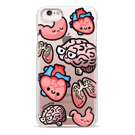 iPhone 6s Cases - Love Your Anatomy // Illustrated Cute Science Biology Heart Brain Lung Stomach roocharms