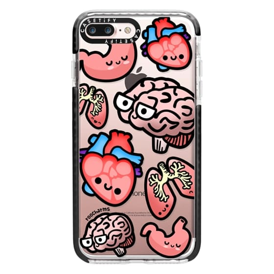 iPhone 7 Plus Cases - Love Your Anatomy // Illustrated Cute Science Biology Heart Brain Lung Stomach roocharms