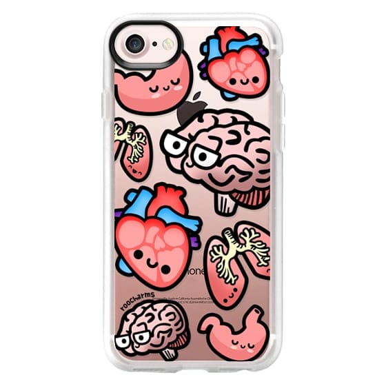 iPhone 7 Cases - Love Your Anatomy // Illustrated Cute Science Biology Heart Brain Lung Stomach roocharms