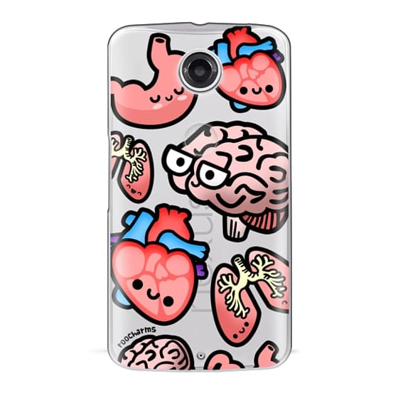Nexus 6 Cases - Love Your Anatomy // Illustrated Cute Science Biology Heart Brain Lung Stomach roocharms