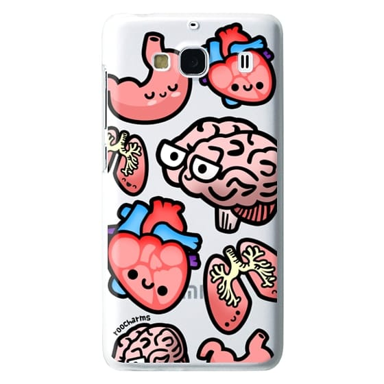 Redmi 2 Cases - Love Your Anatomy // Illustrated Cute Science Biology Heart Brain Lung Stomach roocharms