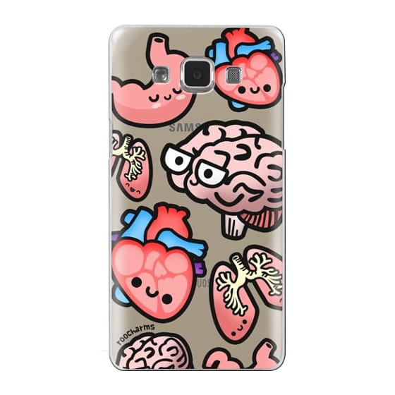 Samsung Galaxy A5 Cases - Love Your Anatomy // Illustrated Cute Science Biology Heart Brain Lung Stomach roocharms