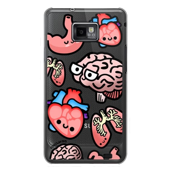 Samsung Galaxy S2 Cases - Love Your Anatomy // Illustrated Cute Science Biology Heart Brain Lung Stomach roocharms