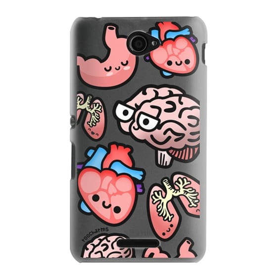 Sony E4 Cases - Love Your Anatomy // Illustrated Cute Science Biology Heart Brain Lung Stomach roocharms