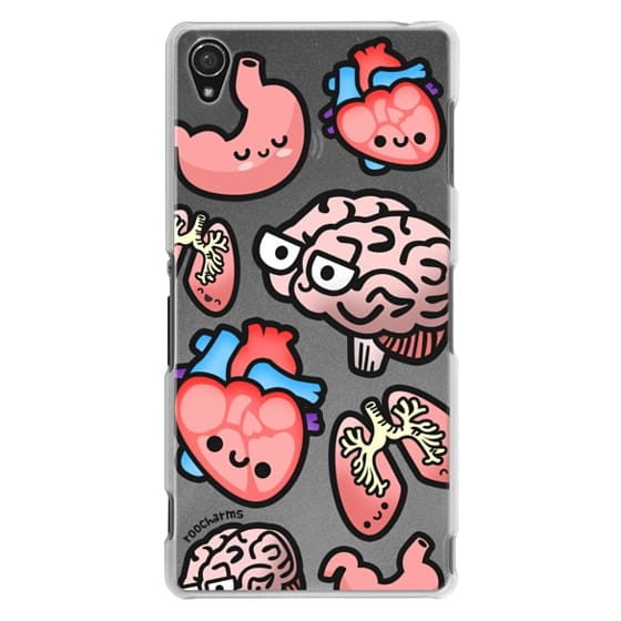 Sony Z3 Cases - Love Your Anatomy // Illustrated Cute Science Biology Heart Brain Lung Stomach roocharms