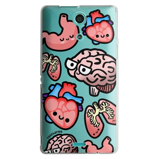 Sony Zr Cases - Love Your Anatomy // Illustrated Cute Science Biology Heart Brain Lung Stomach roocharms
