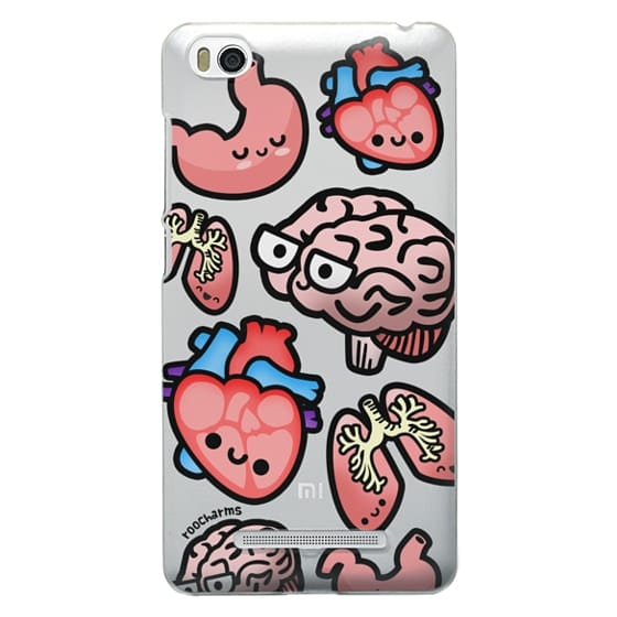 Xiaomi 4i Cases - Love Your Anatomy // Illustrated Cute Science Biology Heart Brain Lung Stomach roocharms